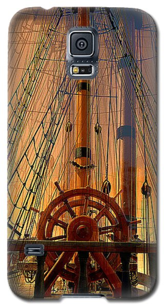 Galaxy S5 Case featuring the photograph Storm Ship Of Old by Lori Seaman