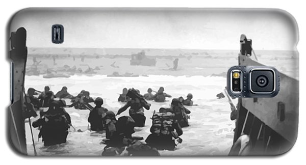 Storming The Beach On D-day  Galaxy S5 Case by War Is Hell Store