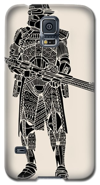 Stormtrooper Samurai - Star Wars Art - Black Galaxy S5 Case