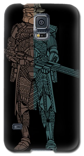 Stormtrooper Samurai - Star Wars Art - Minimal Galaxy S5 Case