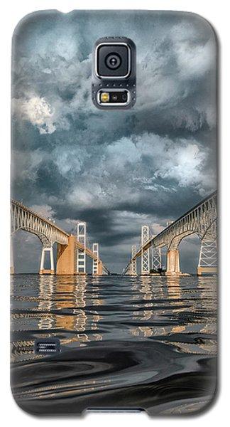 Stormy Chesapeake Bay Bridge Galaxy S5 Case