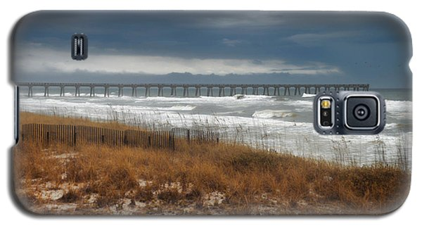 Galaxy S5 Case featuring the photograph Stormy Day At The Pier by Renee Hardison