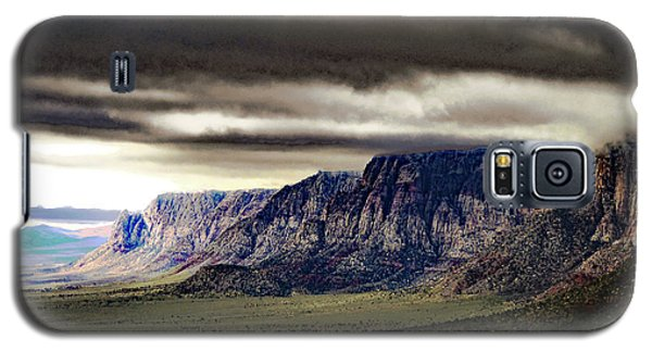 Stormy Morning In Red Rock Canyon Galaxy S5 Case by Alan Socolik