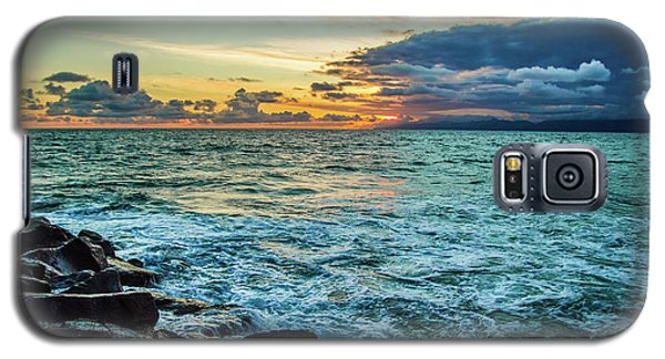 Stormy Ocean Sunset Galaxy S5 Case by April Reppucci