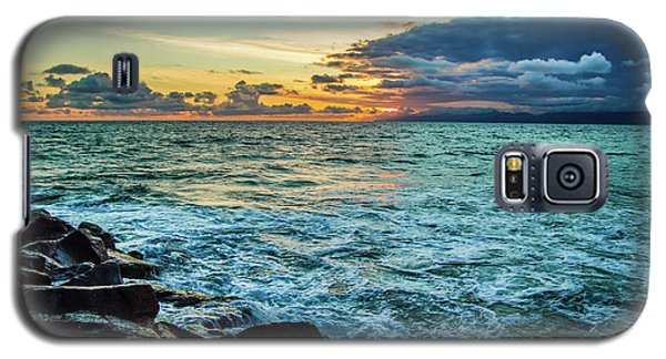Stormy Ocean Sunset Galaxy S5 Case