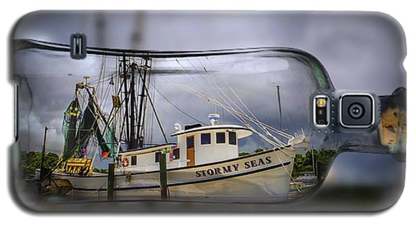 Galaxy S5 Case featuring the photograph Stormy Seas - Ship In A Bottle by Bill Barber