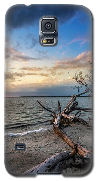 Galaxy S5 Case featuring the photograph Stormy Sunset by Marvin Spates
