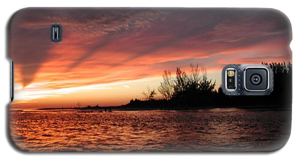 Galaxy S5 Case featuring the photograph Stormy Sunset by Nancy Taylor