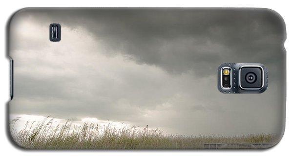 Galaxy S5 Case featuring the photograph Stormy Walk by Allen Biedrzycki