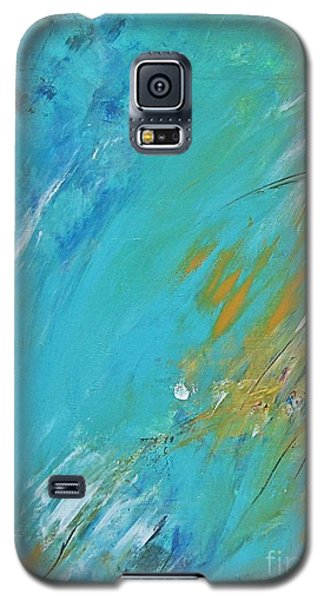 Galaxy S5 Case featuring the painting Stormy Weather by Diana Bursztein