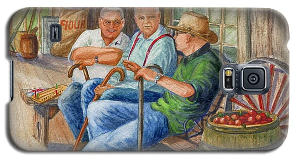 Galaxy S5 Case featuring the painting Storyteller Friends by Marilyn Smith