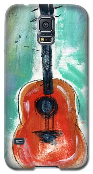 Music Galaxy S5 Case - Storyteller's Guitar by Linda Woods