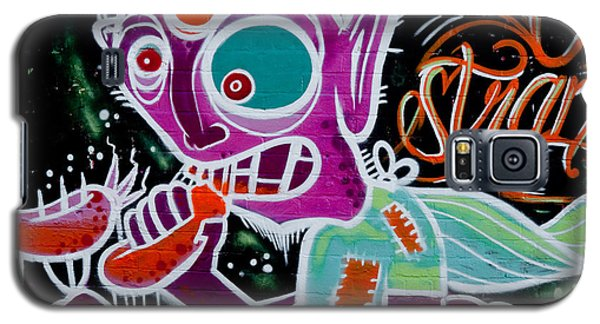 Galaxy S5 Case featuring the painting Strange Graffiti Creature Eaitng Sausagees by Yurix Sardinelly