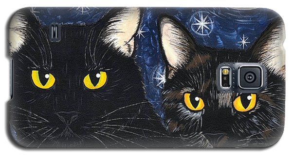 Strangeling's Felines - Black Cat Tortie Cat Galaxy S5 Case