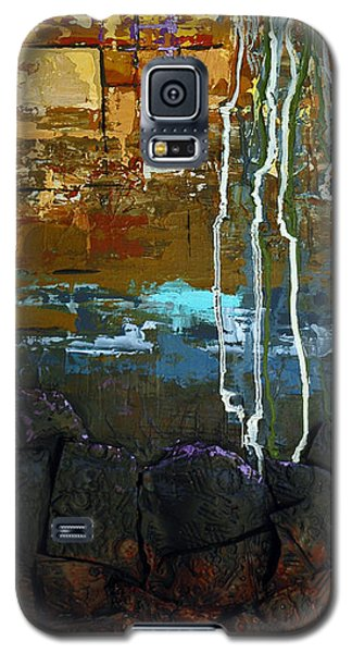 Galaxy S5 Case featuring the painting Strata by Suzanne McKee