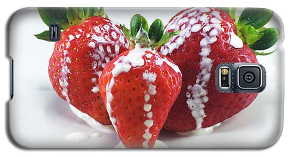 Strawberries And Cream Galaxy S5 Case