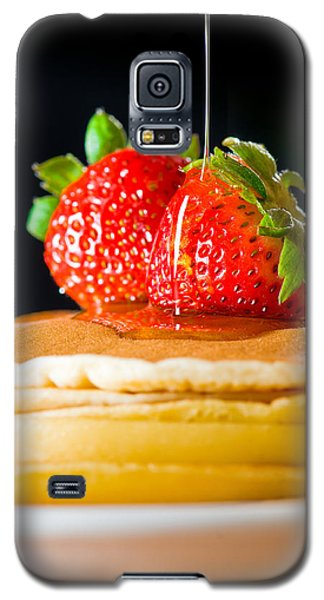 Strawberry Butter Pancake With Honey Maple Sirup Flowing Down Galaxy S5 Case