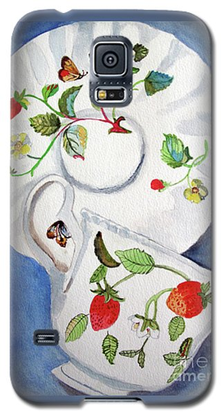 Strawberry Cup And Saucer Galaxy S5 Case by Sandy McIntire