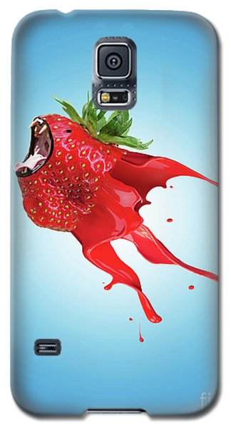 Galaxy S5 Case featuring the photograph Strawberry by Juli Scalzi
