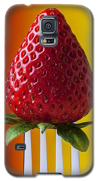Strawberry On Fork Galaxy S5 Case