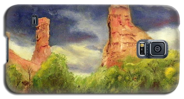 Galaxy S5 Case featuring the painting Strawberry Pinnacles by Sherril Porter