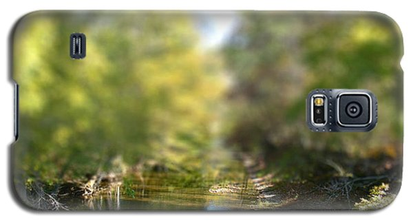 Galaxy S5 Case featuring the photograph Stream Reflections by EricaMaxine  Price