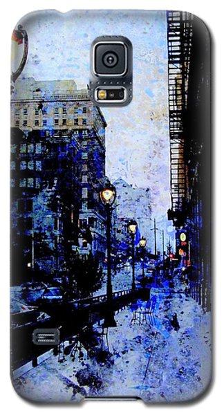 Street Lamps Sidewalk Abstract Galaxy S5 Case