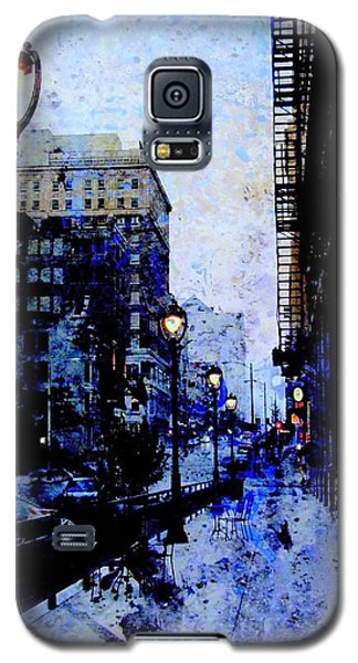 Street Lamps Sidewalk Abstract Galaxy S5 Case