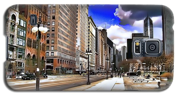 Streets Of Chicago Galaxy S5 Case
