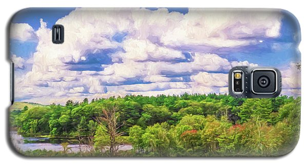 Striking Clouds Above Small Water Inlet And Green Trees Galaxy S5 Case