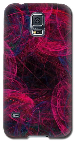 Galaxy S5 Case featuring the digital art String Time Abstract by Andee Design