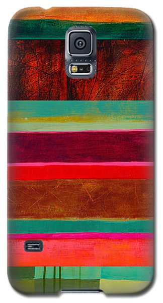 Stripe Assemblage 1 Galaxy S5 Case by Jane Davies