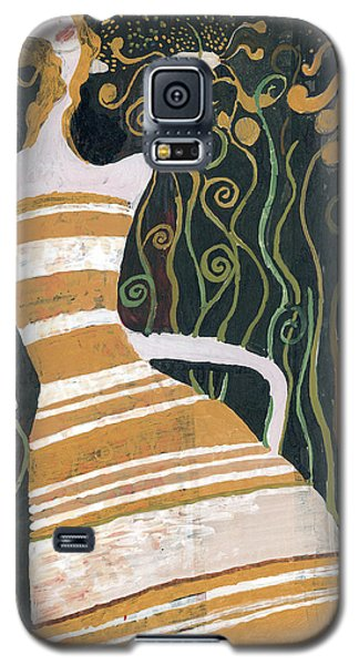 Galaxy S5 Case featuring the painting Stripe Dress by Maya Manolova