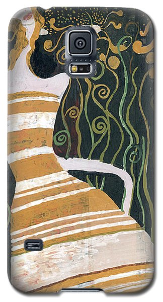 Stripe Dress Galaxy S5 Case by Maya Manolova