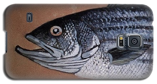 Galaxy S5 Case featuring the ceramic art Striped Bass 1 by Andrew Drozdowicz