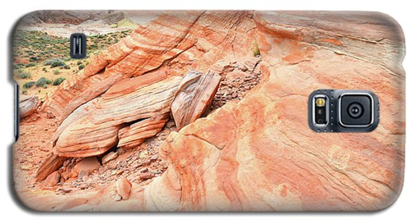 Galaxy S5 Case featuring the photograph Striped Sandstone Along Park Road In Valley Of Fire by Ray Mathis
