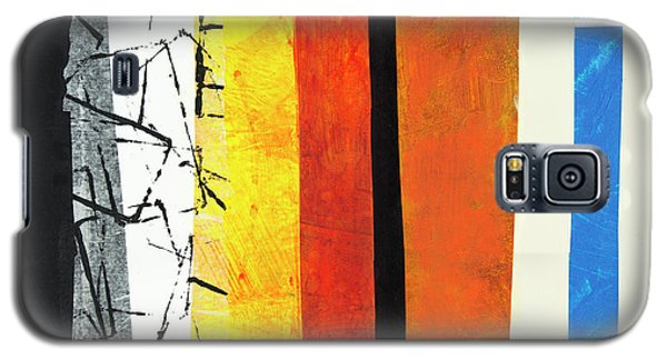 Galaxy S5 Case featuring the mixed media Stripes by Elena Nosyreva