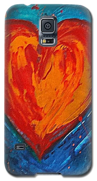 Galaxy S5 Case featuring the painting Strong Heart by Diana Bursztein