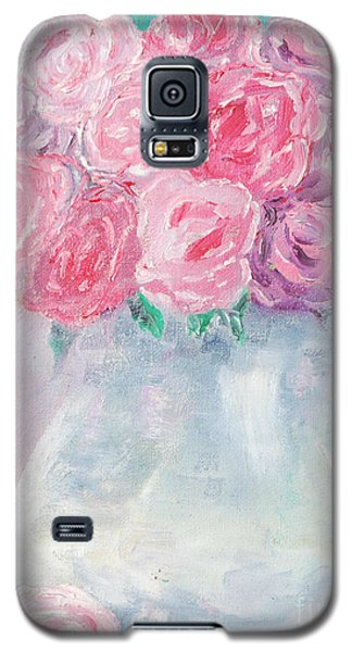 Galaxy S5 Case featuring the painting Study  by Reina Resto