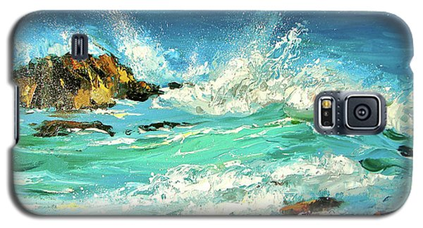 Galaxy S5 Case featuring the painting Study Wave by Dmitry Spiros