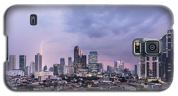 Stunning Sunset Over Jakarta, Indonesia Capital City Galaxy S5 Case