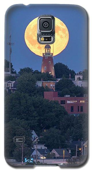 Sturgeon Moon Over Portland Observatory Galaxy S5 Case