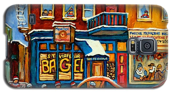 St.viateur Bagel Hockey Montreal Galaxy S5 Case
