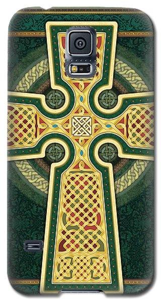 Stylized Celtic Cross In Green Galaxy S5 Case