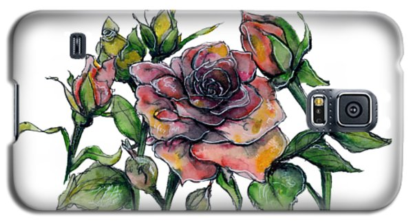 Stylized Roses Galaxy S5 Case