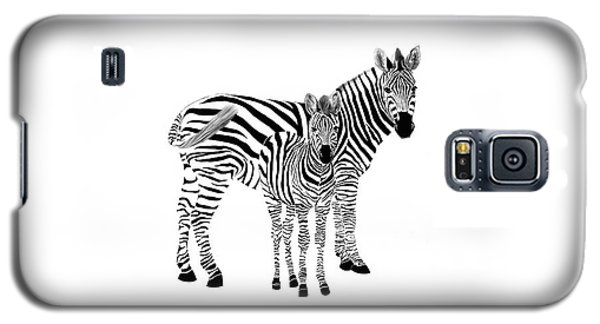 Stylized Zebra With Child Galaxy S5 Case