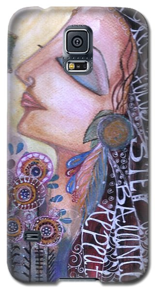 Galaxy S5 Case featuring the painting Success Mantras by Prerna Poojara
