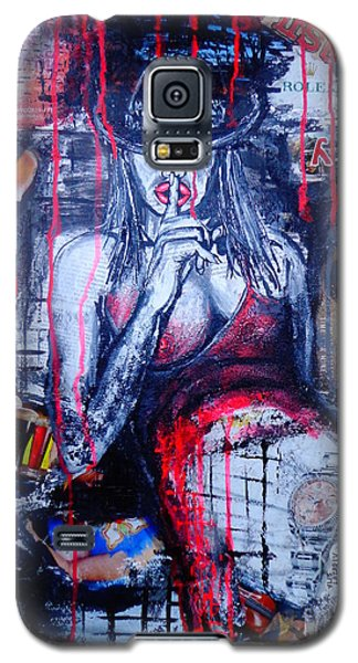 Galaxy S5 Case featuring the painting Succubus 2 by Viktor Lazarev