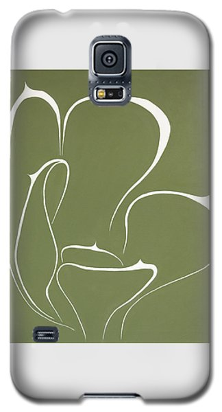 Galaxy S5 Case featuring the painting Succulent In Green by Ben Gertsberg
