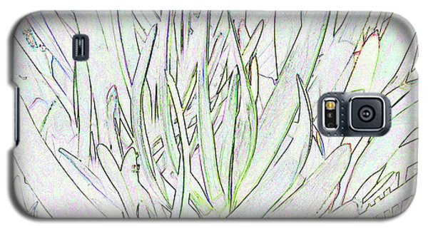Succulent Leaves In High Key Galaxy S5 Case by Nareeta Martin